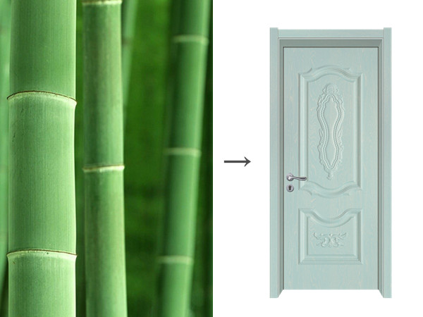 Bamboo door cleaning and maintenance method