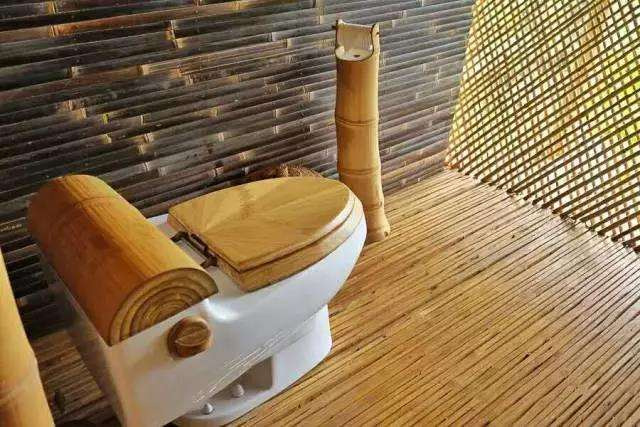 Bamboo toilet cover