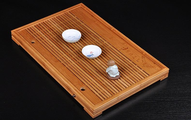 Detailed Bamboo Tea Set
